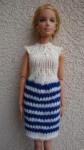 Réf : B0561 - Robe bleu marine et écru pour Barbie dans Habits pour Barbie 006-84x150