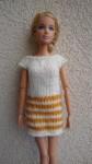 Réf : B0562 - Robe orange et écru pour Barbie dans Habits pour Barbie 007-84x150