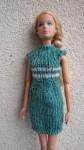 Réf : B0565 - Robe verte et écru pour Barbie dans Habits pour Barbie 011-84x150