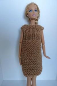 Réf : B0607 - Robe marron pour Barbie dans Habits pour Barbie 0051-200x300