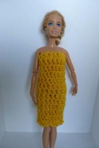 Réf : B0605 - Robe sans manche moutarde pour Barbie dans Habits pour Barbie 0071-200x300