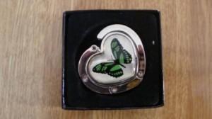 Réf : AS007 - Papillon vert dans Mes accroches sacs 0131-300x168