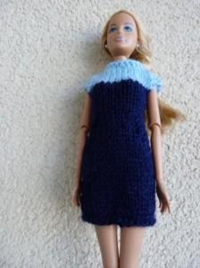 Réf : B0631 - Robe aux 2 bleus pour Barbie n°2 dans Habits pour Barbie 010-224x300