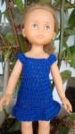Réf : CC0018 - Robe bleue pour poupée chéries ou Paola Reina dans Habits pour poupées Chéries 005-84x150