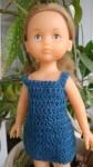 Réf : CC0022 - Robe bleu gris pour poupée chéries ou Paola Reina dans Habits pour poupées Chéries 2011-84x150