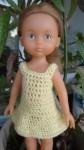 Réf : CC0026 - Robe jaune pour poupée chéries ou Paola Reina dans Habits pour poupées Chéries DSC03961-84x150