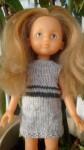 Réf : CC0007 - Robe aux 2 gris pour poupée chéries ou Paola Reina dans Habits pour poupées Chéries aux-2-gris-84x150