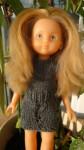Réf : CC0006 - Robe gris foncé et ajourée pour poupée chéries ou Paola Reina dans Habits pour poupées Chéries grise-foncée-84x150