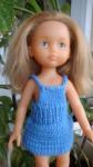 Réf : CC0011 - Mini robe bleue à bretelles pour poupée chéries ou Paola Reina dans Habits pour poupées Chéries petite-robe-bleu-à-bretelles-84x150