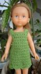 Réf : CC0025 - Robe verte à coquilles pour poupée chéries ou Paola Reina dans Habits pour poupées Chéries vert-001-84x150