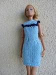 Réf : B0660 - Robe bleue au liseret bleu  pour Barbie dans Habits pour Barbie 008-112x150
