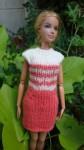 Réf : B0667 - Robe saumon et écrue pour Barbie dans Habits pour Barbie 010-84x150