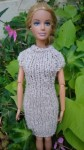Réf : B0669 - Robe marron chiné pour Barbie dans Habits pour Barbie 013-84x150