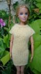 Réf : B0654 - Robe jaune pour Barbie dans Habits pour Barbie 017-84x150