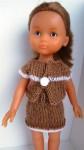 Réf : CC0087 - Ensemble maron et blanc pour poupée chéries dans Habits pour poupées Chéries 0021-84x150